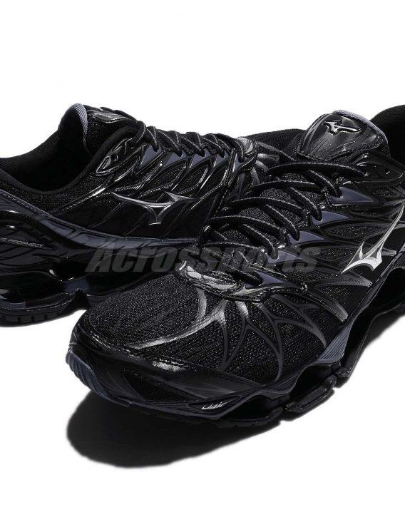 Mizuno Wave Prophecy 7 VII Black Blue Grey Men Running Shoes Sneaker 8 568x725 - Tenis Mizuno Wave Prophecy 7 Masculino