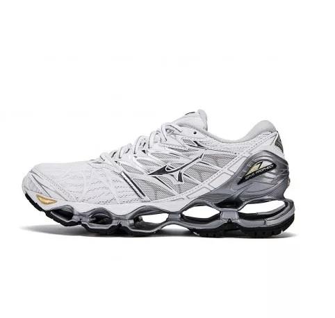 Mizuno Wave Prophecy 7 VII Black Blue Grey Men Running Shoes Sneaker 10 1 - Tenis Mizuno Wave Prophecy 7 Masculino