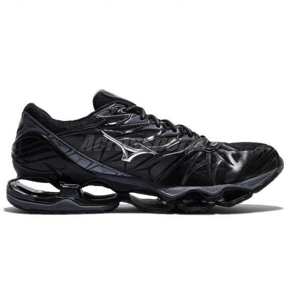 Mizuno Wave Prophecy 7 VII Black Blue Grey Men Running Shoes Sneaker 3 568x568 - Tenis Mizuno Wave Prophecy 7 Masculino