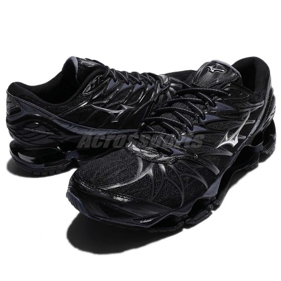 Mizuno Wave Prophecy 7 VII Black Blue Grey Men Running Shoes Sneaker 8 568x568 - Tenis Mizuno Wave Prophecy 7 Masculino
