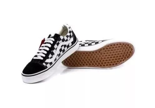 cd1209b5fc1 Tênis Vans Old Skool Skate Xadrez - LeveShoes