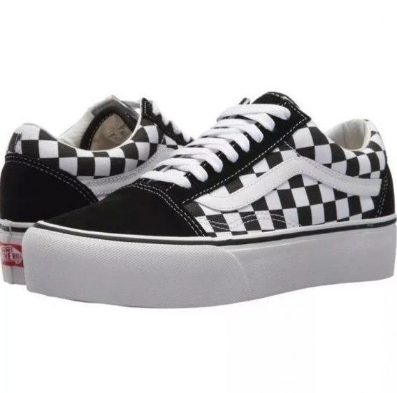 Tenis Vans Old Skool Skate Xadrez Quadriculado 568x562 - Tênis Vans Old Skool Skate Xadrez