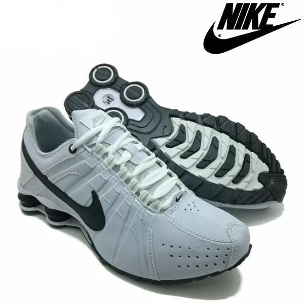 bca2121ab59 Tênis Nike Shox Júnior 4 Molas Masculino Branco - LeveShoes
