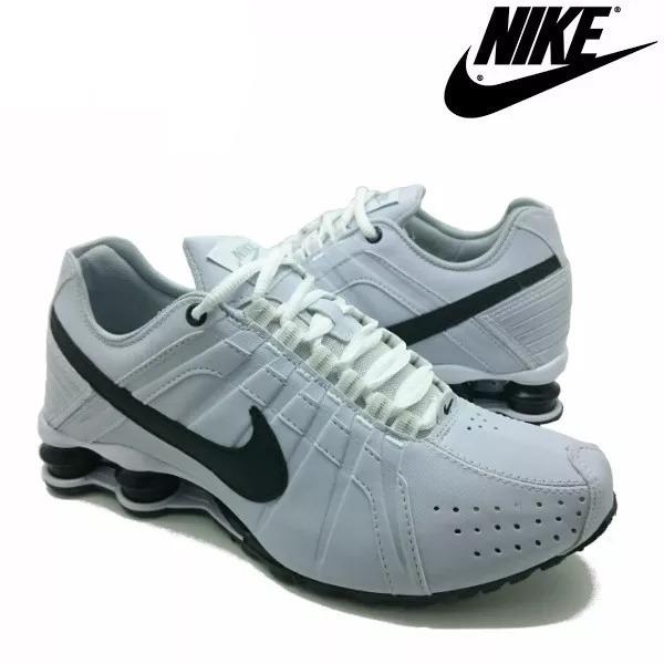 0e5bfa7343a Tênis Nike Shox Júnior 4 Molas Masculino Branco - LeveShoes