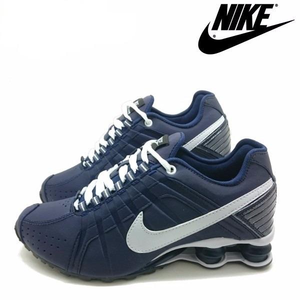 8783a0cf754 Tênis Nike Shox Júnior 4 Molas Azul - LeveShoes