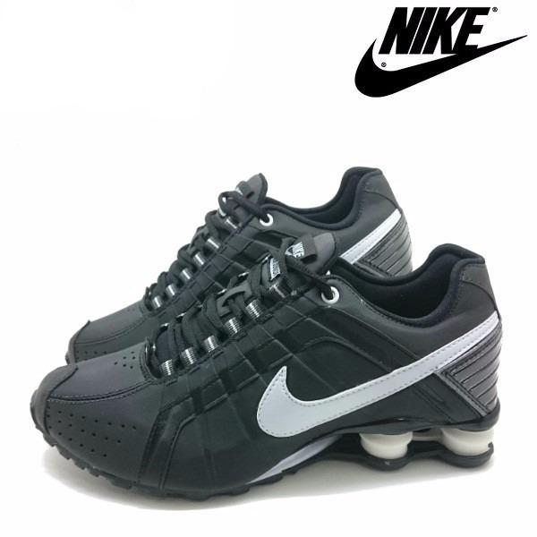 7cffb0fc3aa Tênis Nike Shox Júnior 4 Molas Masculino Preto - LeveShoes