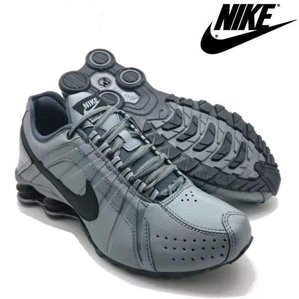 899c5a37f34 Tênis Nike Shox Júnior 4 Molas Masculino Cinza - LeveShoes