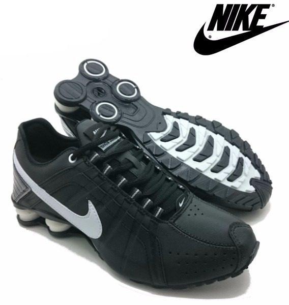 Tênis Nike Shox Júnior 4 Molas Masculino 568x600 - Tênis Nike Shox Júnior 4 Molas Masculino Preto