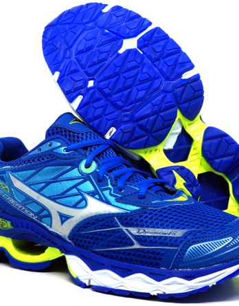 Tênis Mizuno Wave Creation 20 348x445 - Tênis Mizuno Wave Creation 20 Azul e Verde