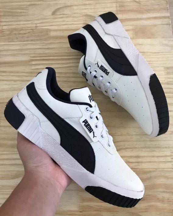 Tênis Feminino Puma branco preto 3 568x709 - Tênis Feminino Puma